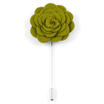 Alfiler de solapa con flor verde