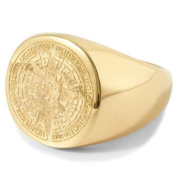 Prsteň Ryker v zlatej farbe