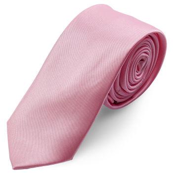 Corbata básica rosa claro brillante 6 cm