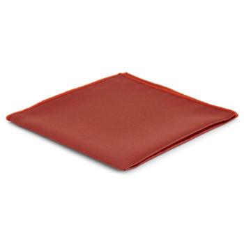Pañuelo de bolsillo básico color teja