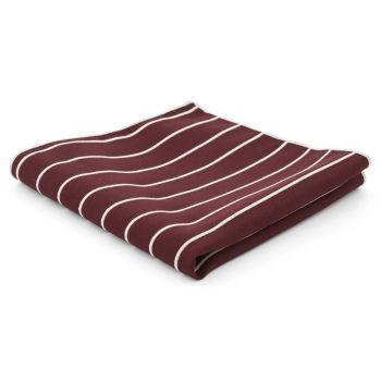 Burgunder Stripet Lommetørkle