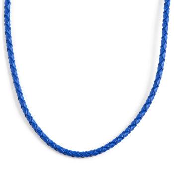 Colar Azul Trançado de 3 mm