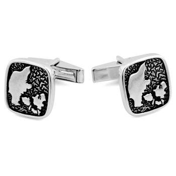 Gemelos de plata 925s homenaje danés