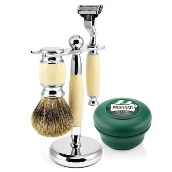 Conjunto de Barbear Bege Modena