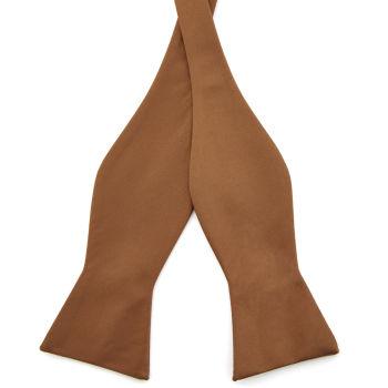 Pajarita para atar básica marrón claro