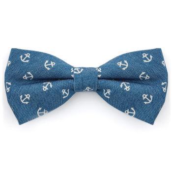 Pajarita azul con anclas