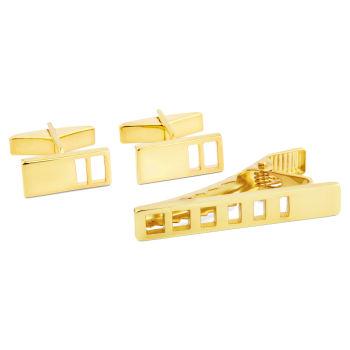 Kort 925s-Sæt i Guld med Huller