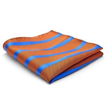 Pañuelo de bolsillo de seda de rayas