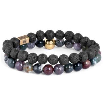 Гривна Miro от различни естествени камъни и лава перли