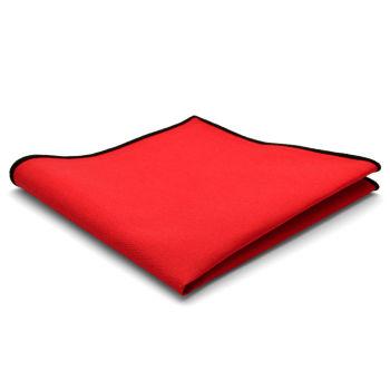 Pañuelo de bolsillo de algodón rojo