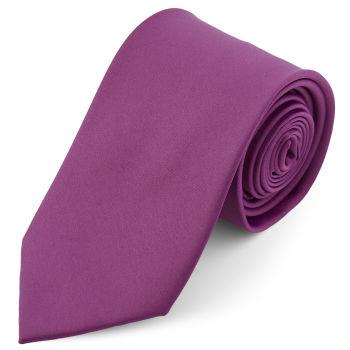 Corbata básica morada 8 cm