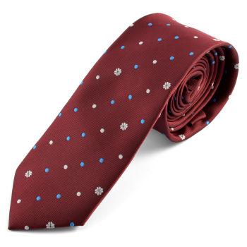 Corbata burdeos de lunares