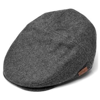 Gorra de caza Sixpence gris en lana