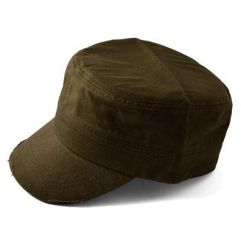 Gorra de cadete marrón