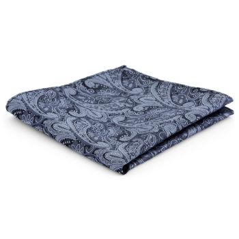 Hopeanharmaa kasmirkuvioinen polyesteri taskuliina