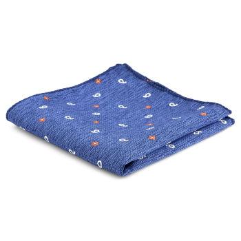 Pañuelo de bolsillo informal en azul