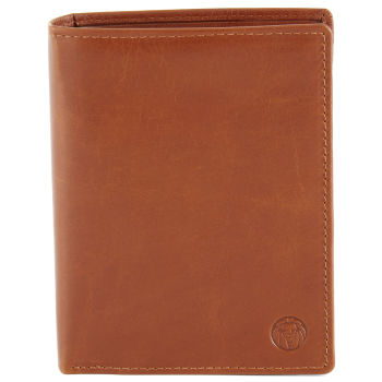 Grand portefeuille en cuir marron clair Jasper