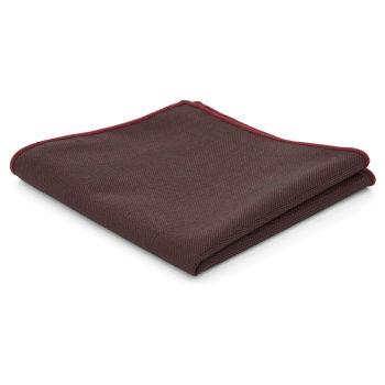 Pañuelo de bolsillo marrón con dibujo