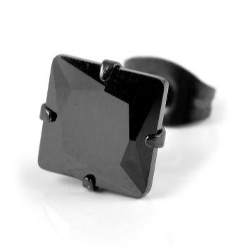 Pendiente negro/negro de 8 mm