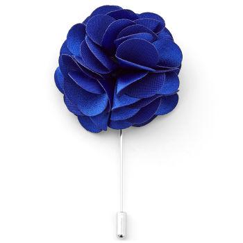 Luxurious Royal Blue Lapel Flower