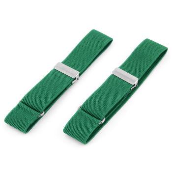 Jednoduché zelené elastické pásky na rukávy
