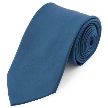 Corbata básica azul petróleo 8 cm