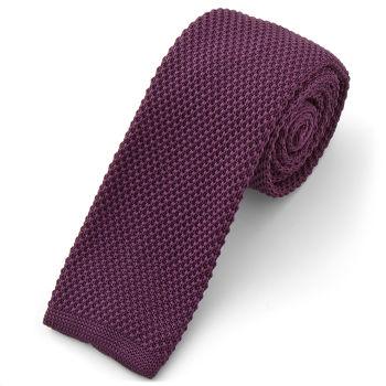 Corbata de punto púrpura