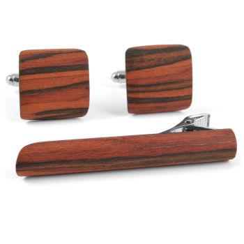 Conjunto a juego de madera de roble rojo