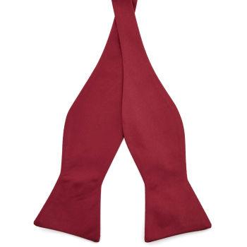 Burgundy Basic Self Tie Bow Tie