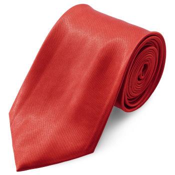 Corbata básica rojo brillante 8 cm