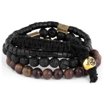 Brown Miro Stack Bracelet
