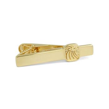 Pasador de corbata corto plata 925s y oro con león