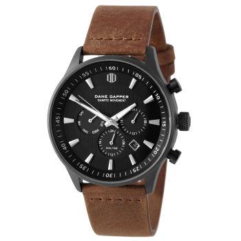 Reloj Troika negro sobre marrón