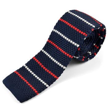 Corbata de punto azul marino