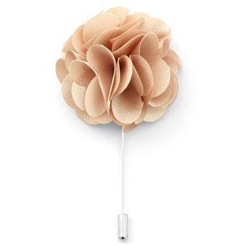 Flor de Lapela Luxuosa Creme