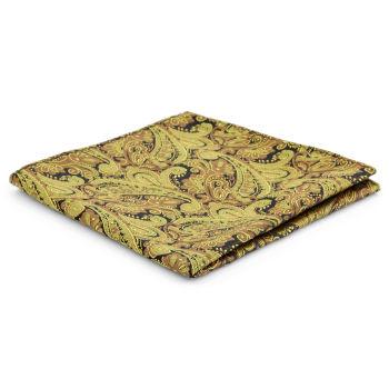Pañuelo de bolsillo de poliéster con estampado cachemira dorado