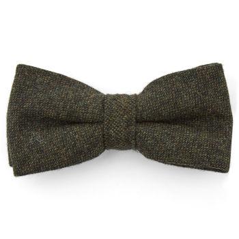 Pajarita de lana verde oscuro