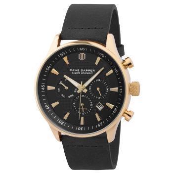 Reloj negro con decoración dorada Troika