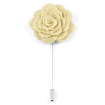 Elefántcsontszínű rózsás gallértű