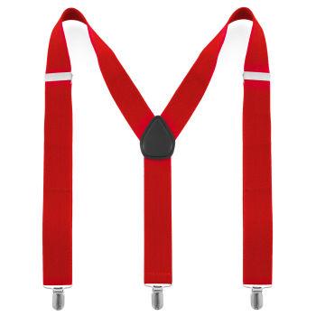 Bright Red Suspenders