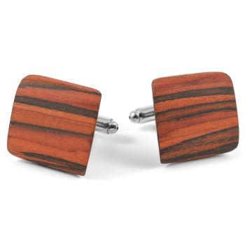 Boutons de manchette en bois de chêne rouge