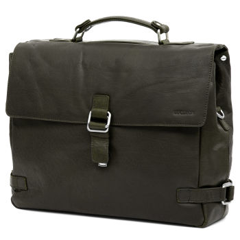 Montreal Luxury Leather Olive Satchel Bag