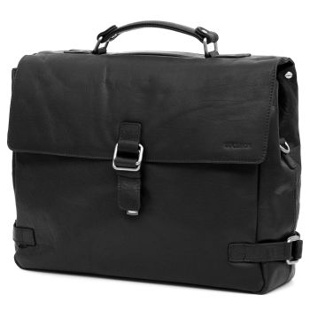 Montreal Luxury Leather Black Satchel Bag