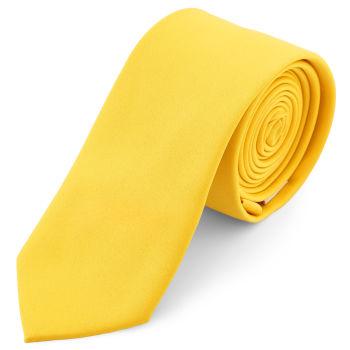 Corbata básica amarillo canario 6 cm