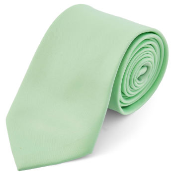 Corbata básica verde menta 8 cm
