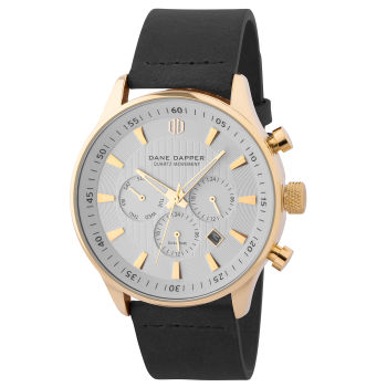 Black, White & Gold-Tone Troika Watch