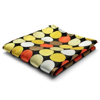 Pañuelo de bolsillo de seda con lunares retro