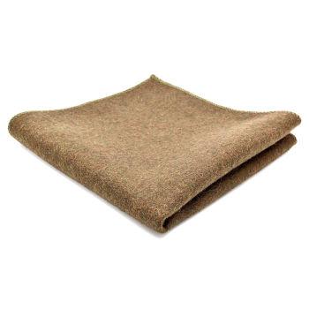 Pañuelo de bolsillo de lana artesanal marrón claro