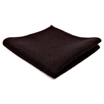 Pañuelo de bolsillo de lana artesanal marrón oscuro