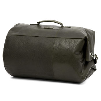 Montreal Classic Leather Olive Duffel Bag